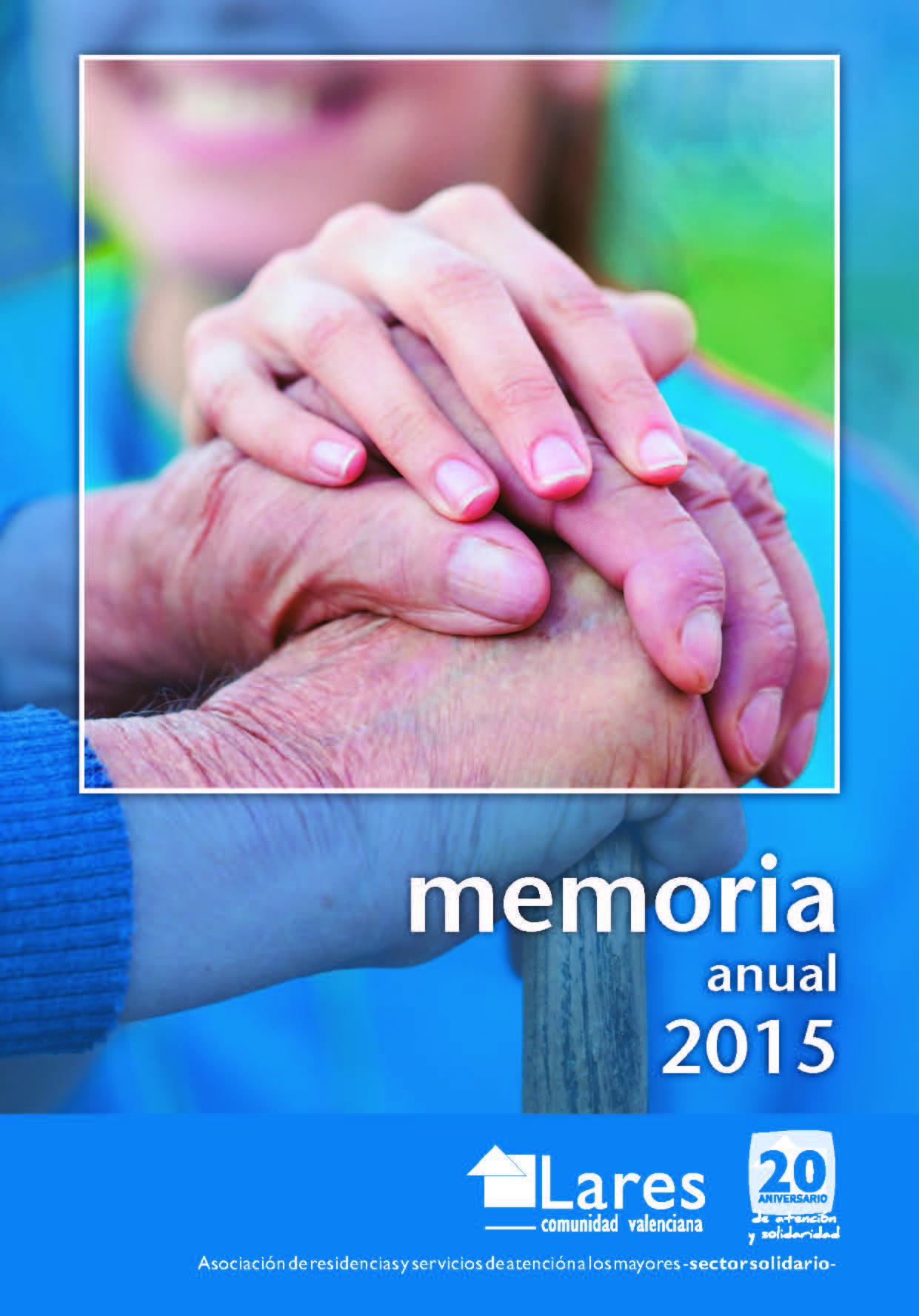 MEMORIA PORTADA SOLA - La Fundación del Arciprestazgo de Ruzafa apuesta por la calidad en sus centros.