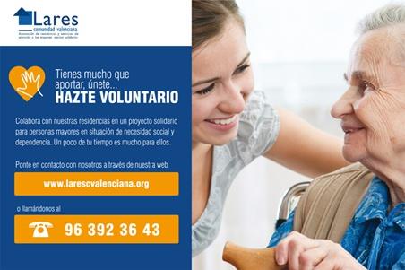 Imagen Campana Voluntariado 20152 1 - Lares CV relanza su campaña de sensibilización y captación de Voluntariado para sus residencias de mayores