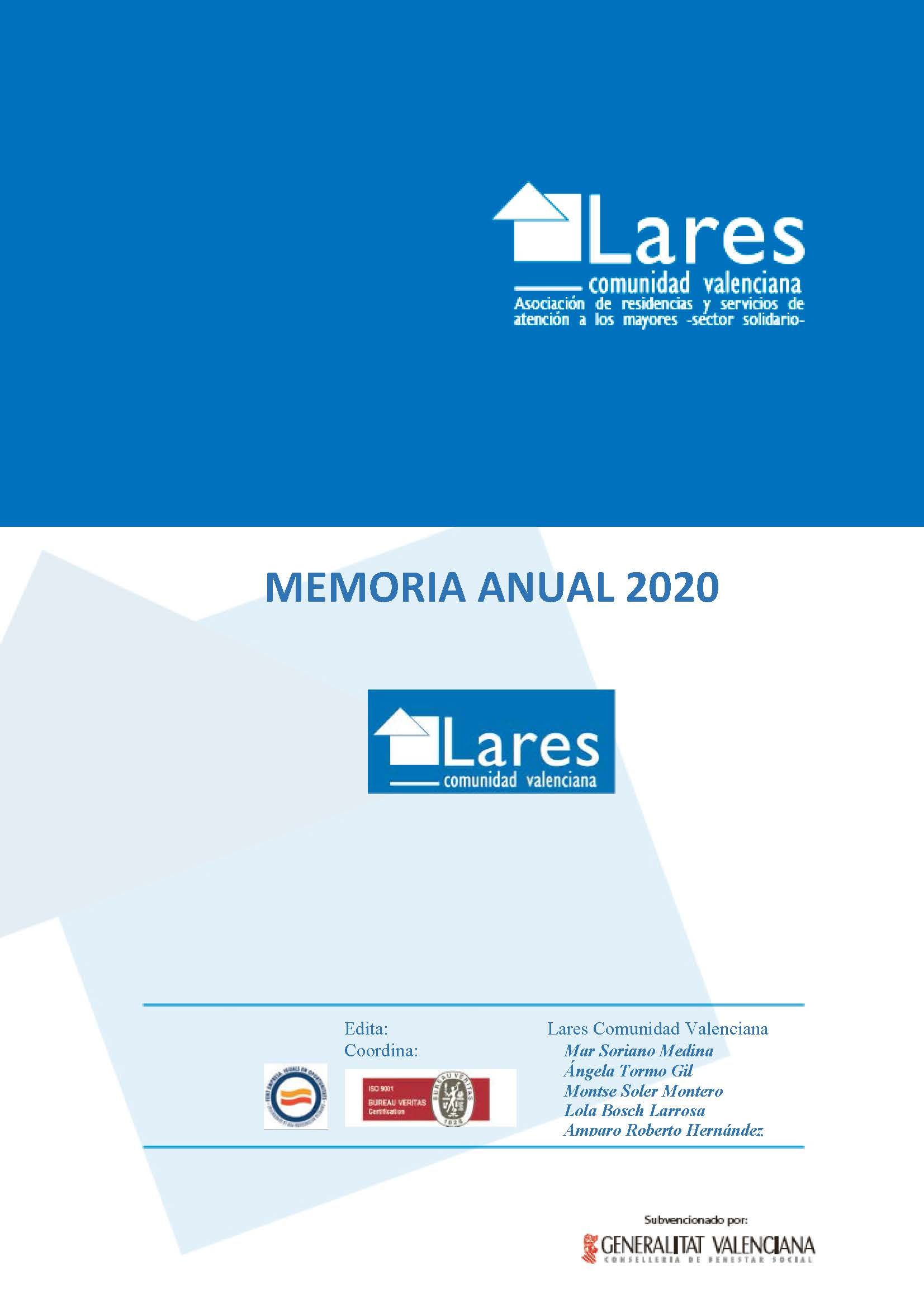 0.PORTADA MEMORIA LARES 2020 OK - Ley de transparencia